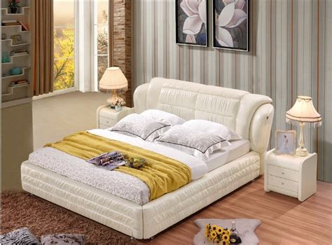 Soft Beds by Aliexpress Buy Modern Real Genuine Leather Bed