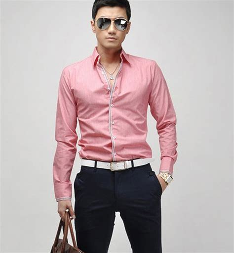 casual pink shirt  men fashionarrowcom