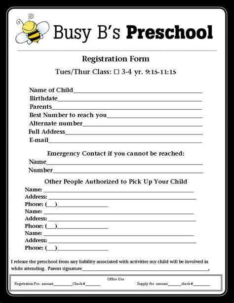 busy b s preschool registration form lbl 116 | 7f79860c572a105a9271659e75e6e7a2