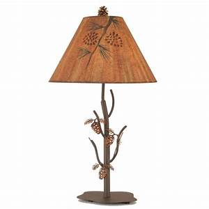 iron pine cone table lamp With pine cone metal floor lamp