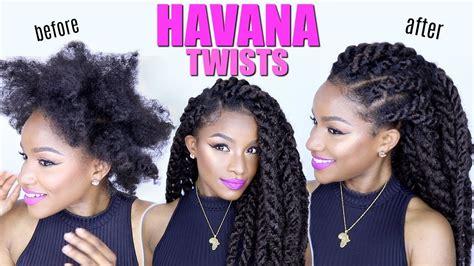 Havana Twists On Natural Hair