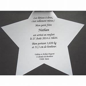 Faire Part Naissance Etoile : faire part naissance ou bapt me etoile ~ Teatrodelosmanantiales.com Idées de Décoration