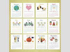 Calendar 2017 Cute Kids Calendar Template 2018