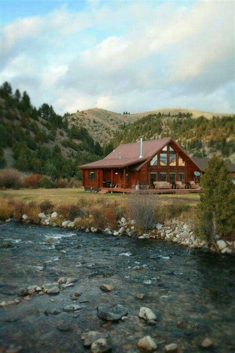 mountains   river   perfect place   log cabin home cabins   woods
