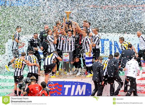 Juventus Football Club Victory Celebration Editorial Photo ...