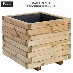 Bac à Fleurs : bac fleur en bois grand choix petit prix ~ Teatrodelosmanantiales.com Idées de Décoration