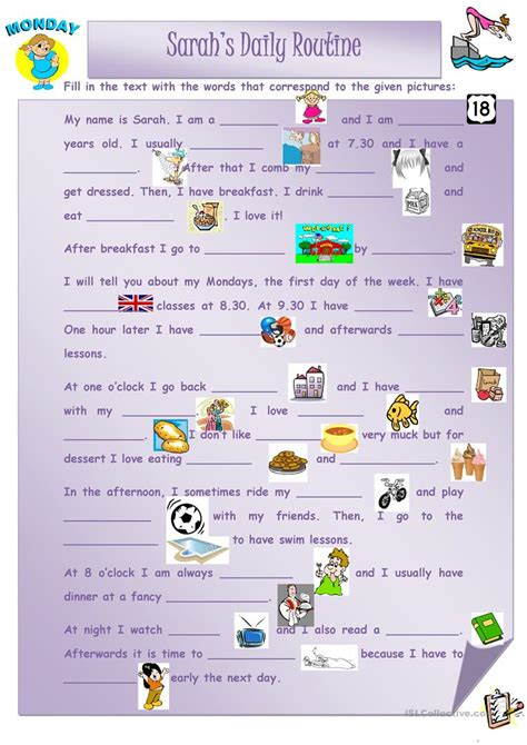 daily routine worksheet free esl printable worksheets made by teachers
