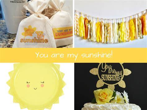 sunshine baby shower inspiration board
