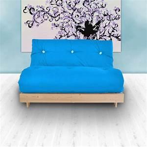 2 Sitziges Sofa : blau budget doppel futon baumwolle matratze 2 sitzer sofabett sofa gast student ~ Indierocktalk.com Haus und Dekorationen