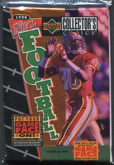 deck collectors choice 1996 1996 deck collector s choice football retail 24 pack