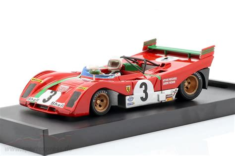 Not that much differences at first sight, but quite difficult job overall, particularly on the two air intakes and the convexity of the front bonnet. Ferrari 312Pb #3 Winner Targa Florio 1972 Merzario Munari Red BRUMM 1:43 R261B M ...