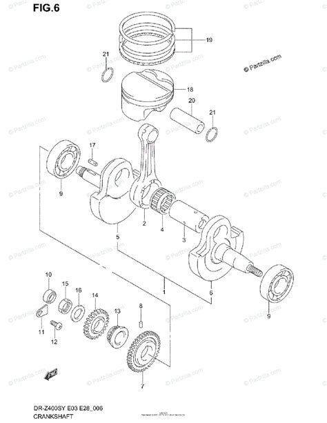 Suzuki Motorcycle Oem Parts Diagram For Crankshaft