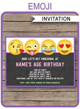 emoji invitation emoji invitations template printable emoji theme invite