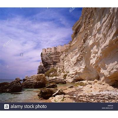 Bonifacio Corse du Sud Corsica France Stock Photo