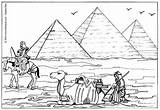 Pyramids Coloring Pages Egyptian Egypt Giza Hellokids sketch template