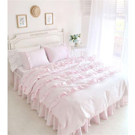 textile beautiful pink lace ruffled comforter sets duvet