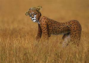 cheetah body paint. Wonder if the real cheetahs have a ...