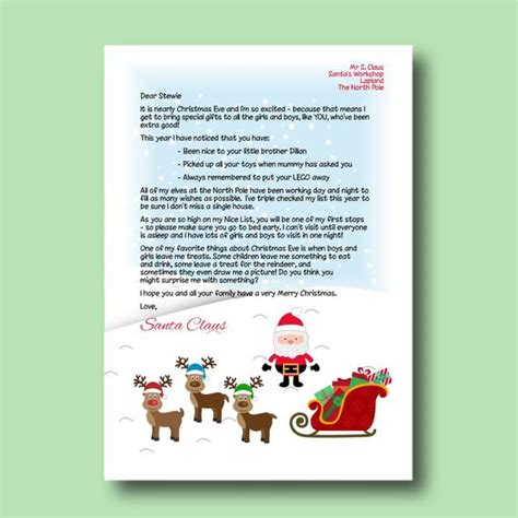 items similar  editable letter  santa printable