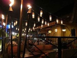 The Grotto Lights Outdoor Patio At Night At Trader Sam 39 S Enchanted Tiki Bar