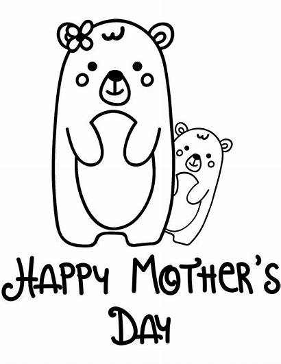 Coloring Pages Happy Mothers Mother Printable Drawing