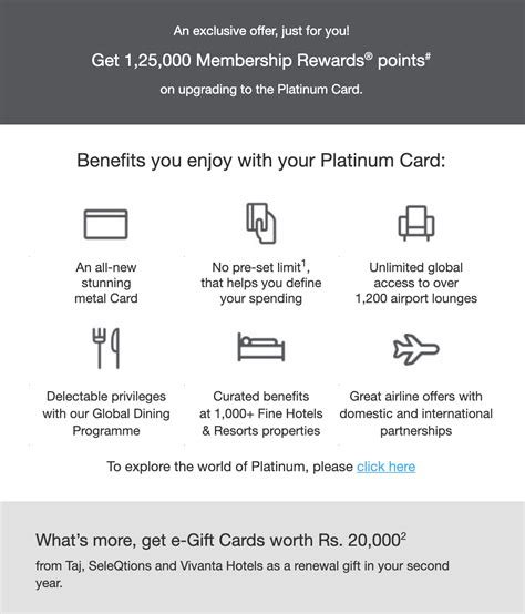 Delta, in particular, tries to get cardholders to upgrade from a delta. Amex Platinum Charge Card Upgrade Offer (125K Points ...