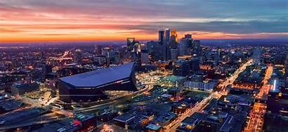 Bank Bowl Super Minneapolis Skyline Stadium Stadler