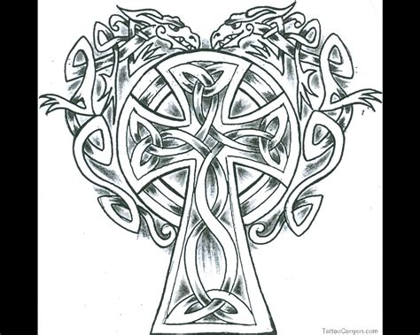 Coloring Page Of Celtic Cross Coloring Pages