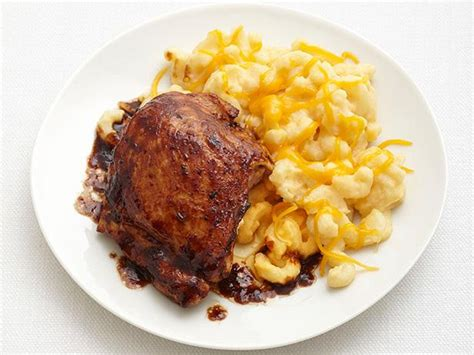 barbecue chicken  mac  cheese recipe food network