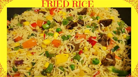 How To Make Fried Rice  Nigerian Fried Rice