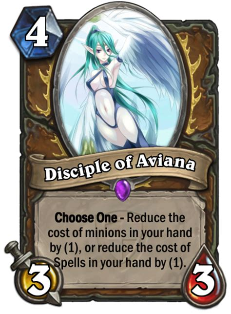 hearthstone decks druid aviana druid minion idea disciple of aviana fan creations