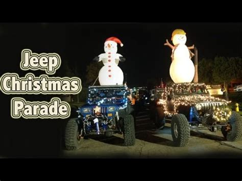 jeep christmas parade genright offroad 39 s jeep christmas parade simi valley
