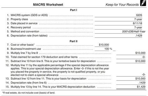 macrs depreciation table  frameimageorg