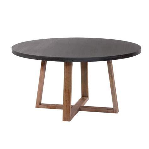 table ronde tambora 140 cm achat vente table salle a manger pas cher couleur et design fr