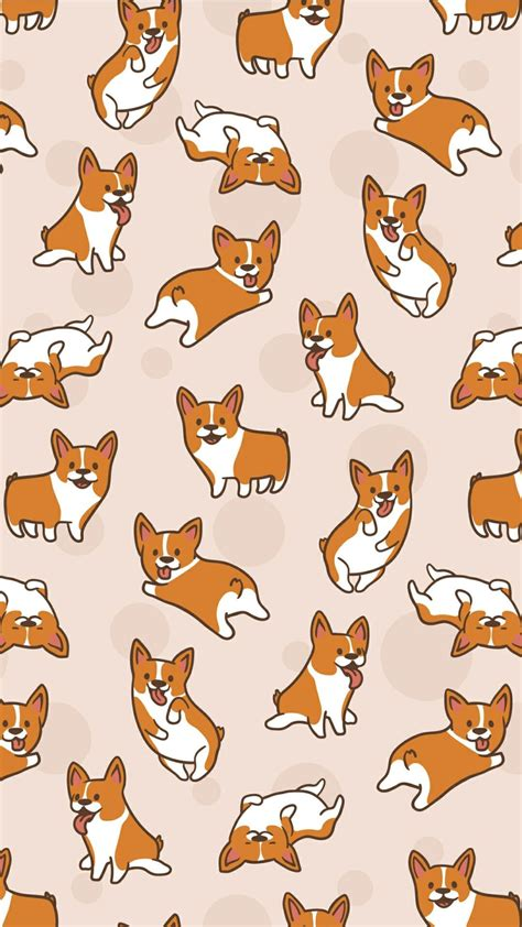 Awesome wallpapers for mobiles and desktop collected from all over the internet. Beige corgi print | Cute cartoon wallpapers, Corgi wallpaper iphone, Dog wallpaper iphone