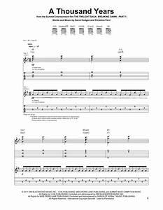 A Thousand Years Guitar Tab by Christina Perri (Guitar Tab ...