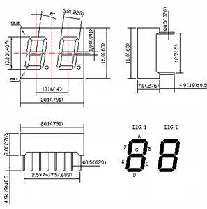 040 inch two digit 7 segment led displays double digit With led lamp circuit 50 super bright led lamp beads