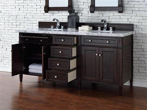 Contemporary 72 Inch Double Sink Bathroom Vanity Mahogany