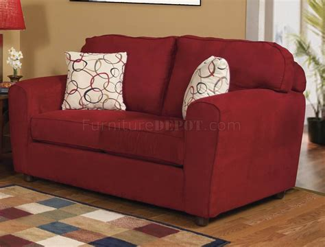 red fabric modern sofa loveseat set woptions