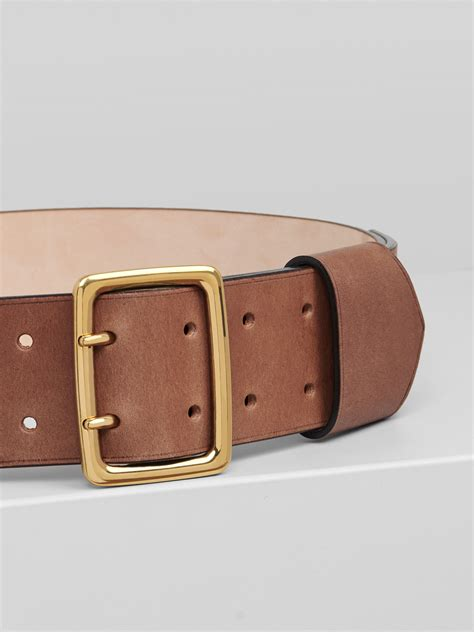 Even the boss of carte blanche carries two other cards as well as his carte blanche card. Franckie Wide Brown Leather Belt In Vegetal Calfskin ...