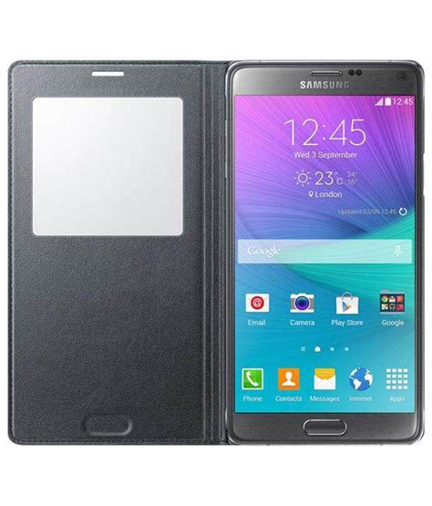 samsung s view flip cover for galaxy note 4 black flip covers at low prices