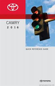 Toyota Camry 2016 Xv50    9 G Quick Reference Guide