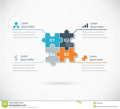 puzzle infographic options business concept stock