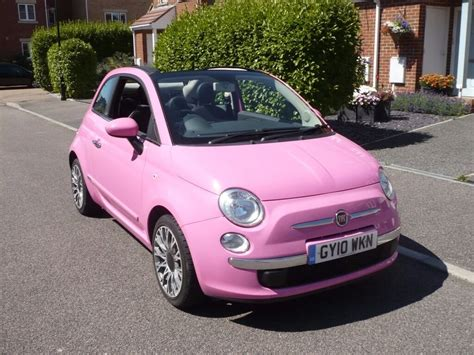 Pink Fiat by Fiat 500c Pink Limited Edition Convertible In