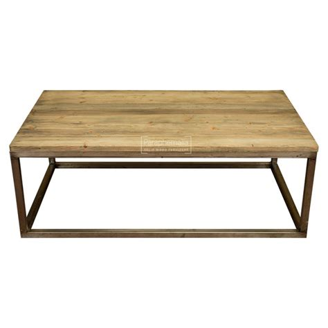 wood coffee table with metal legs extra large reclaimed pine wood coffee table with metal