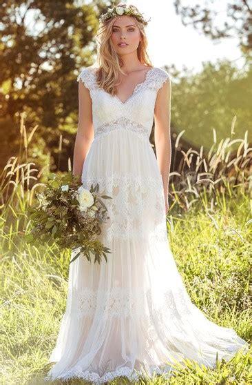 neck dress  ruffle  lace bodice dorris wedding