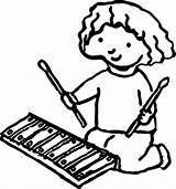 Xylophone Drawing Coloring Pages Drawings Clipartmag sketch template