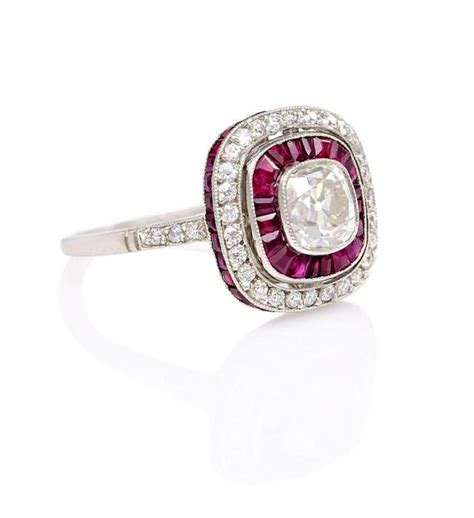 deco ruby ring deco ruby and ring at 1stdibs