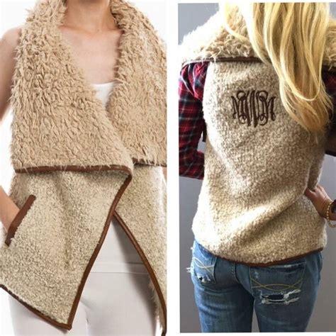 pre order monogrammed fur vest monogram vest monogram outfit clothes
