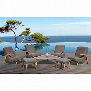 Salon Jardin Teck : salon de jardin en teck new york gris ~ Melissatoandfro.com Idées de Décoration