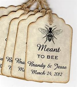 wedding favor gift tags meant to bee personalized honey jar With wedding favor gift tags